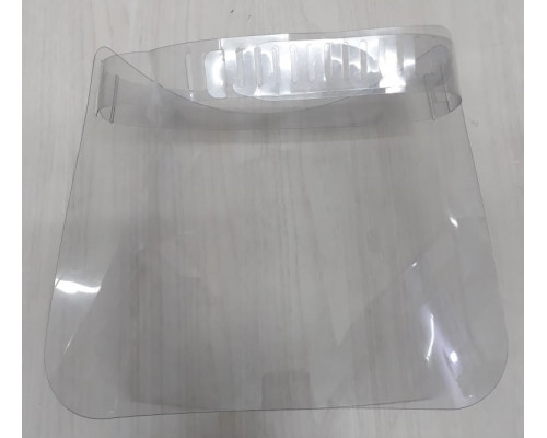 Protetor Facial Em Pet - 0,50 mm 1 FL34x23.8cm com Tira em Pet 0,30 mm 1 FL 67.5x3 cm